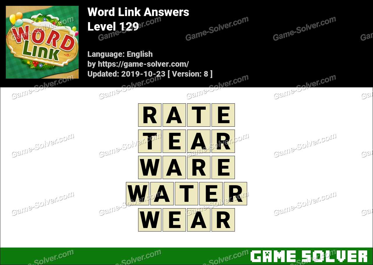 Word Link Level 129 Answers