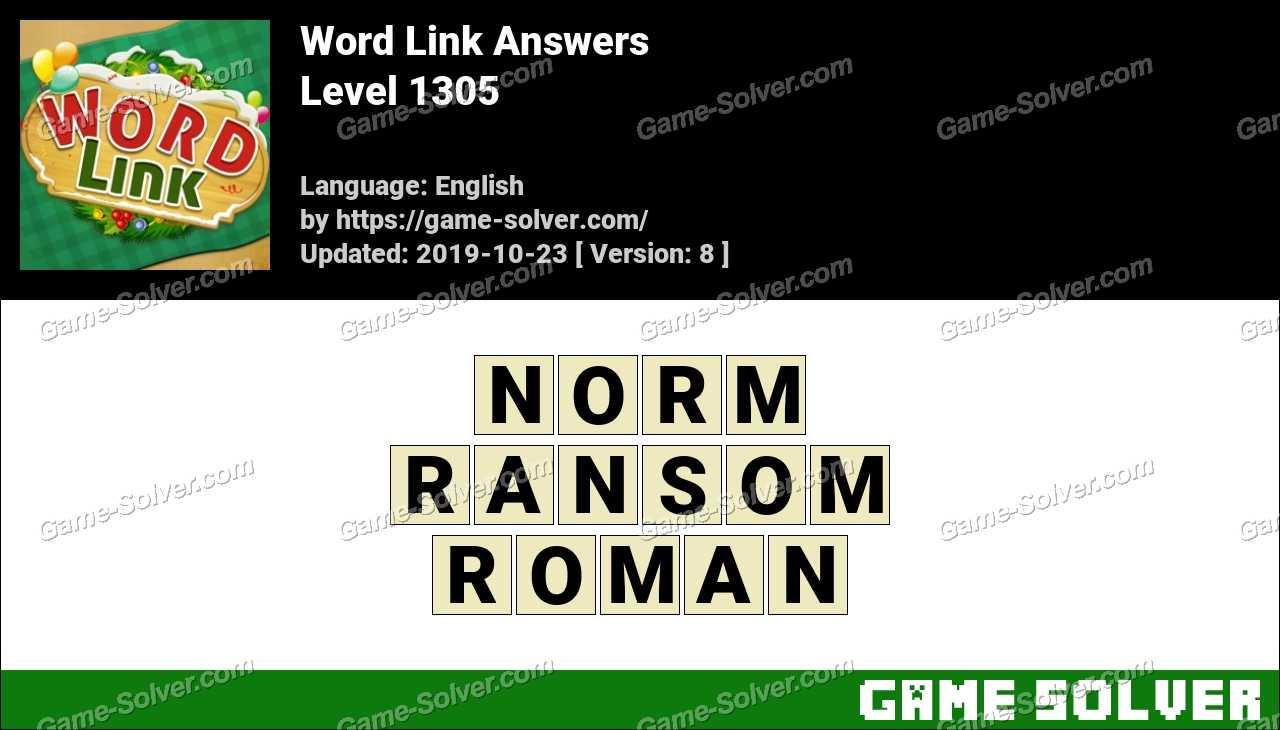 Word Link Level 1305 Answers