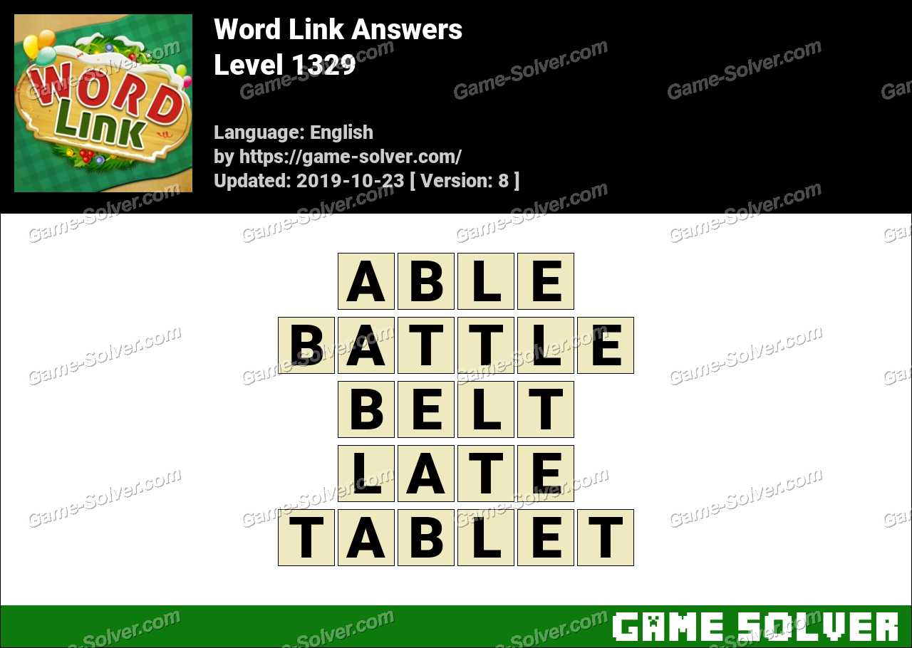 Word Link Level 1329 Answers
