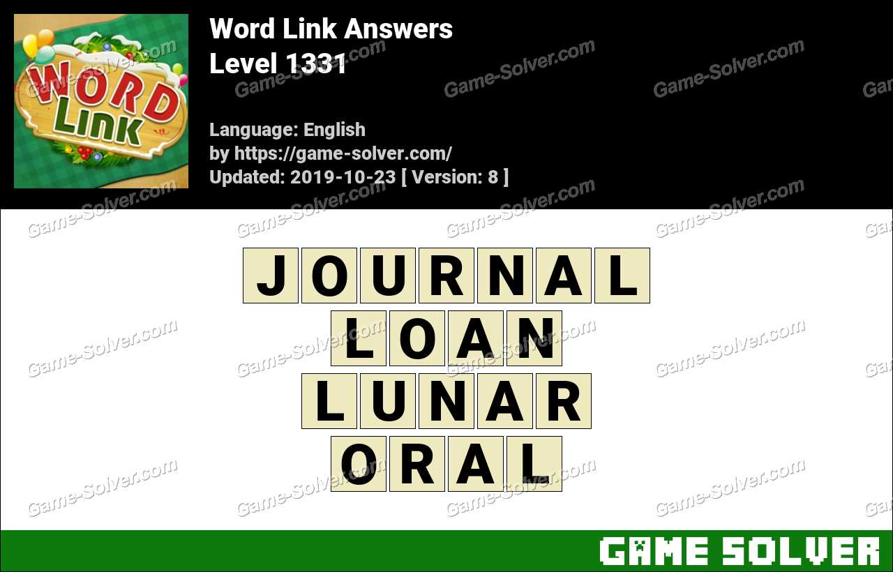 Word Link Level 1331 Answers
