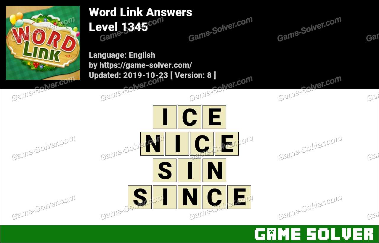 Word Link Level 1345 Answers
