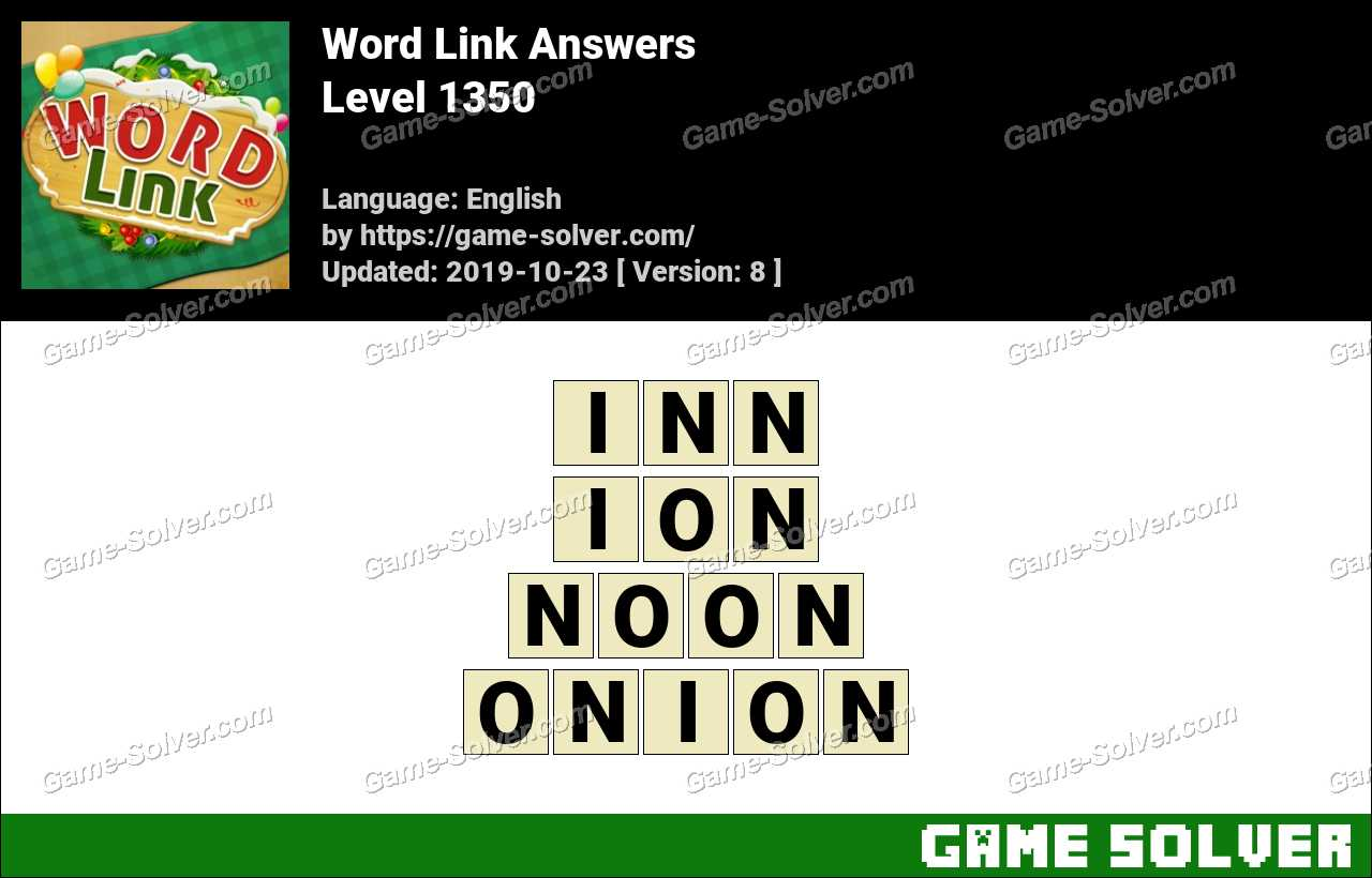 Word Link Level 1350 Answers