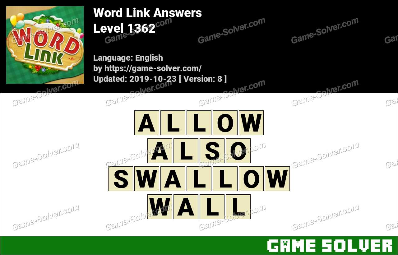 Word Link Level 1362 Answers