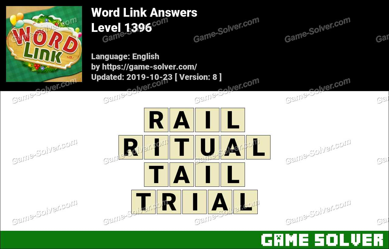 Word Link Level 1396 Answers