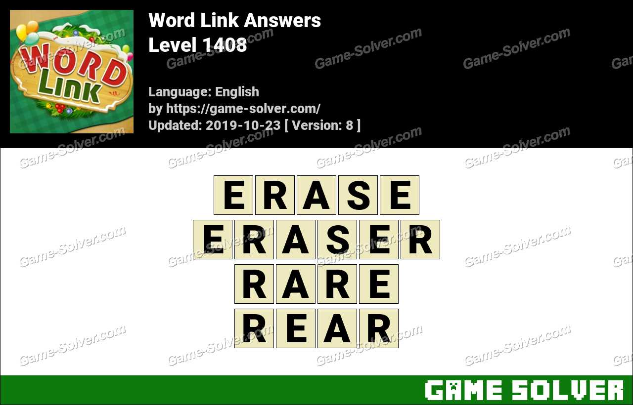 Word Link Level 1408 Answers