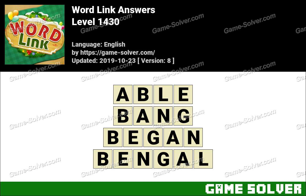 Word Link Level 1430 Answers