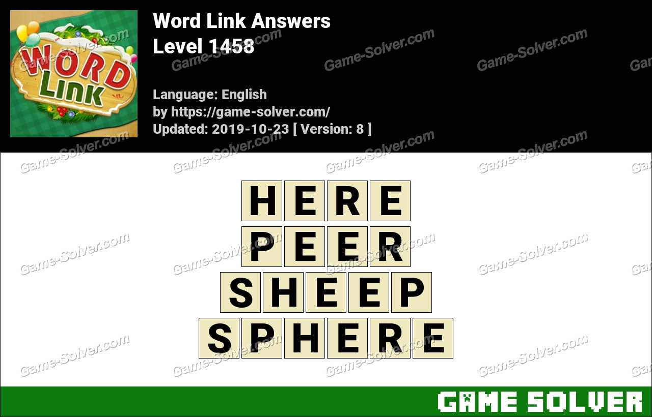 Word Link Level 1458 Answers