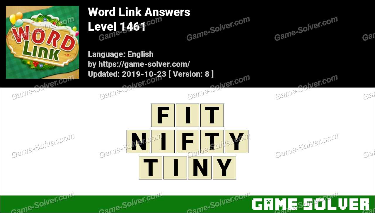 Word Link Level 1461 Answers