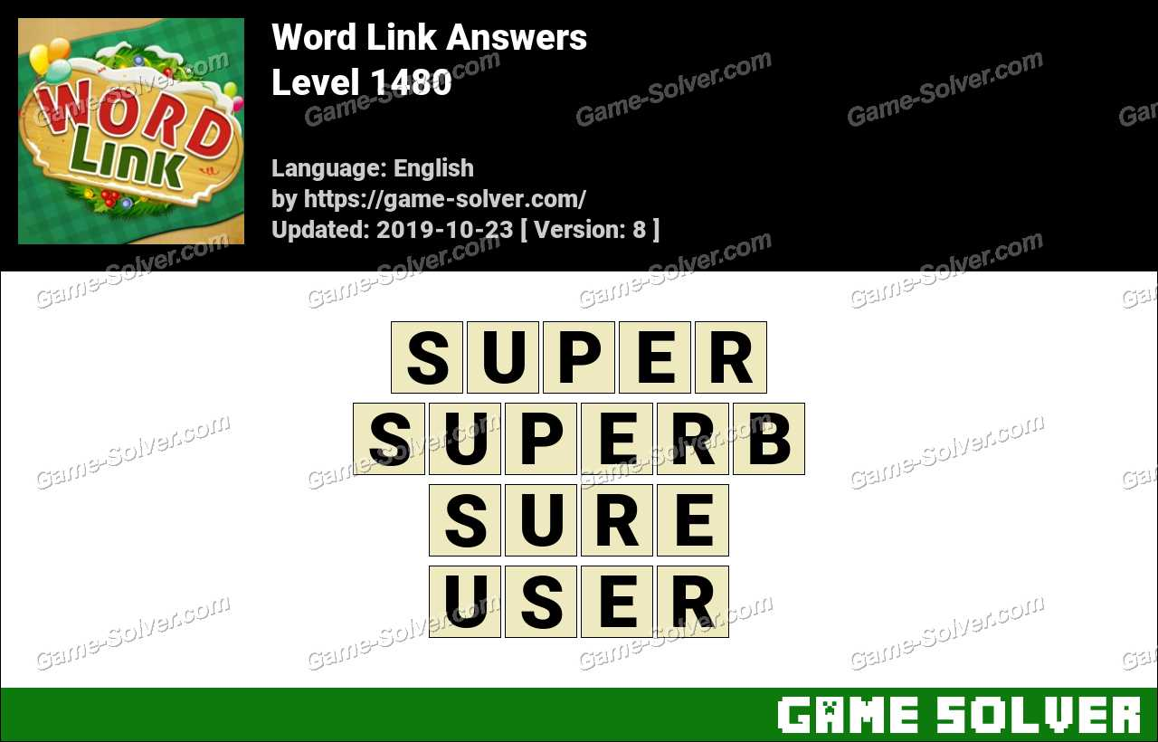 Word Link Level 1480 Answers