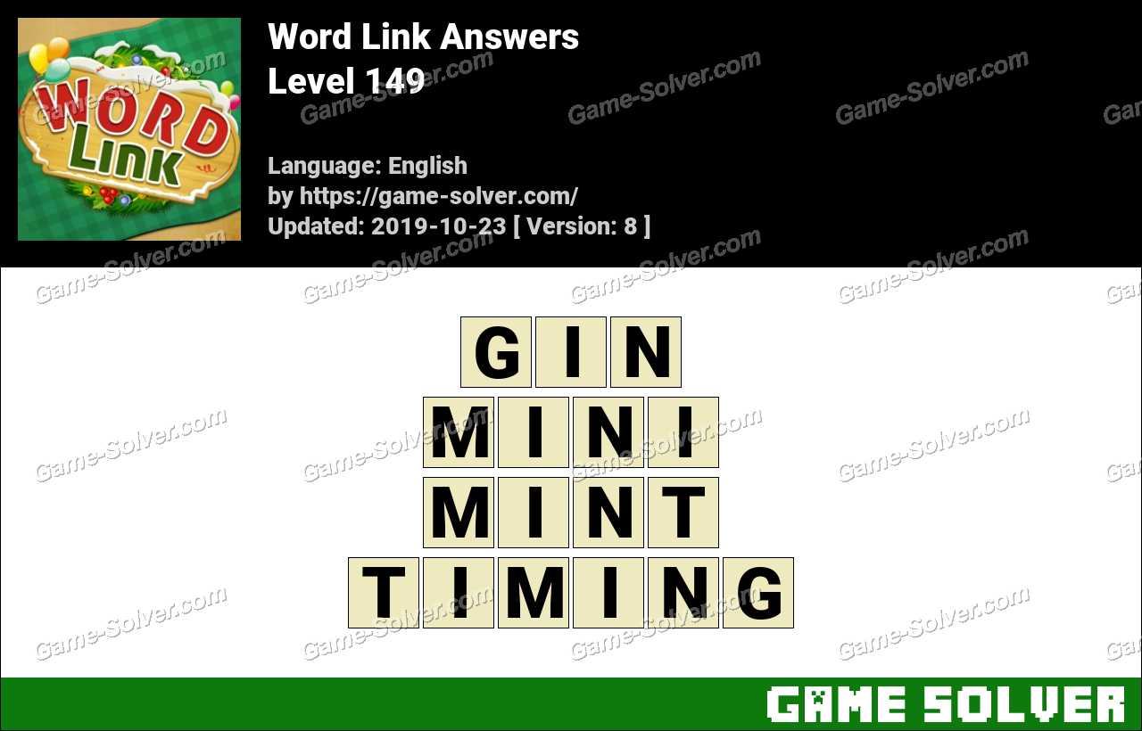 Word Link Level 149 Answers
