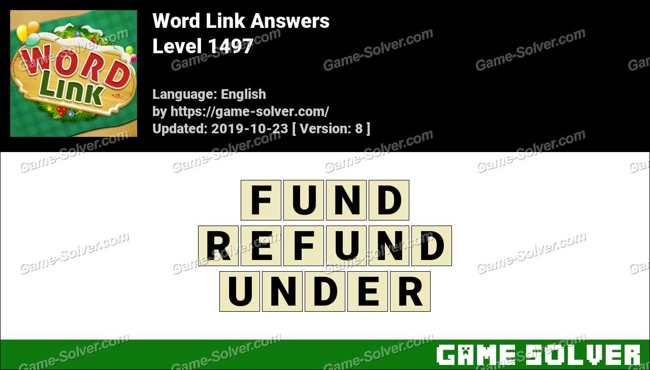 Word Link Level 1497 Answers