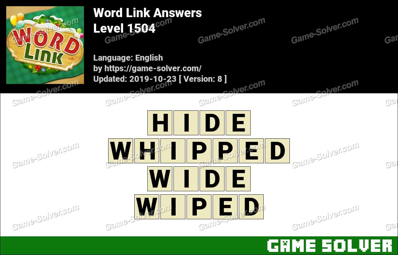 Word Link Level 1504 Answers
