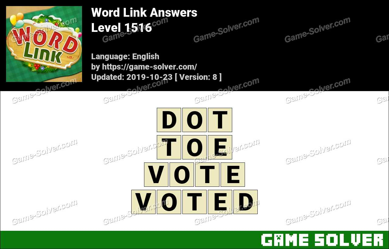 Word Link Level 1516 Answers