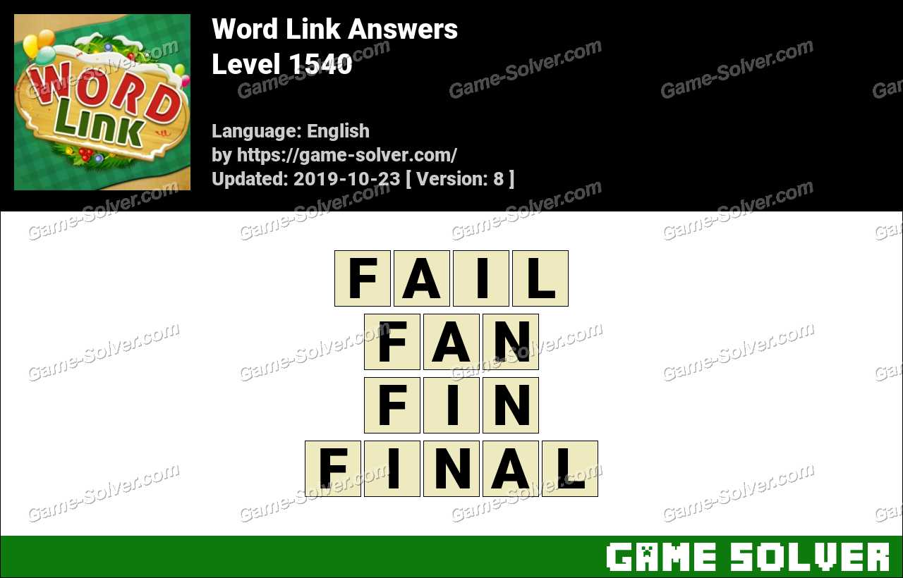 Word Link Level 1540 Answers