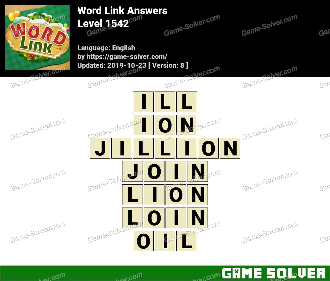Word Link Level 1542 Answers