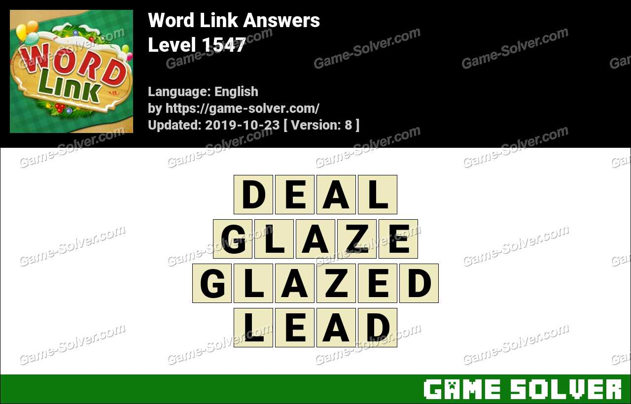 Word Link Level 1547 Answers