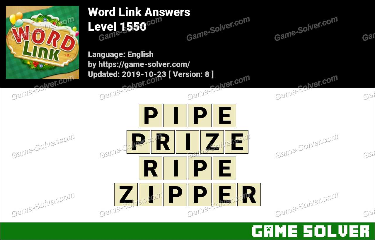 Word Link Level 1550 Answers