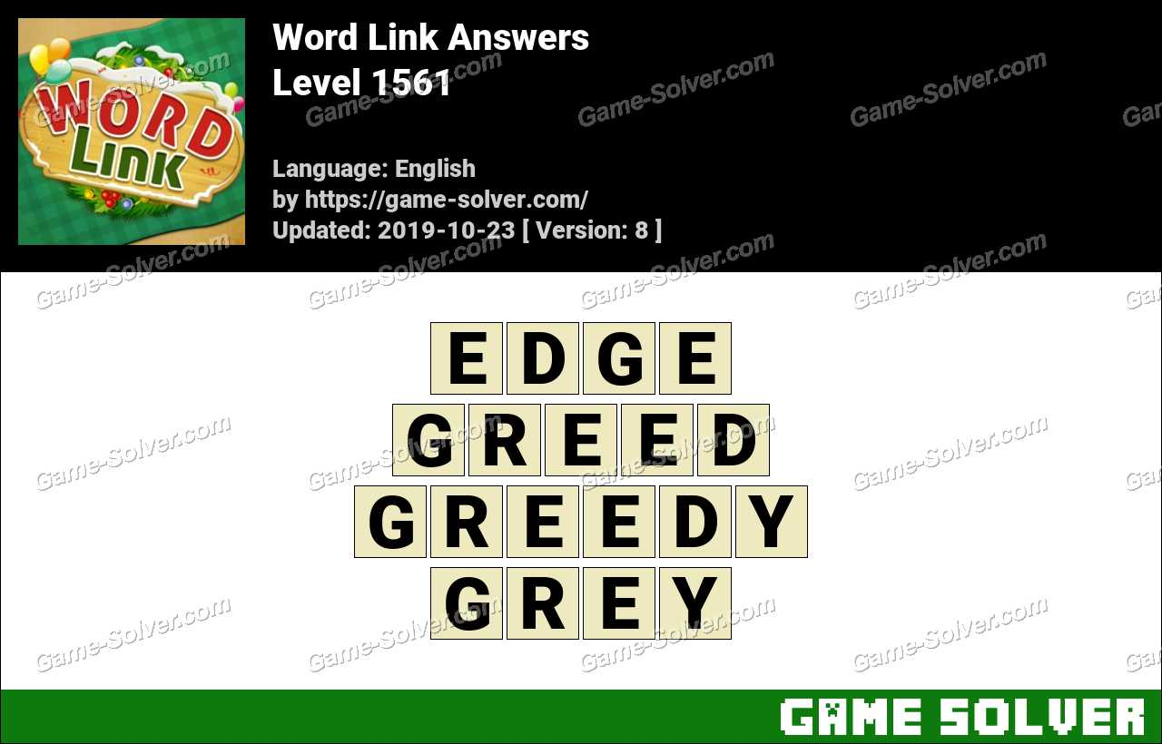Word Link Level 1561 Answers