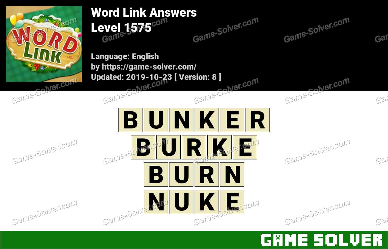 Word Link Level 1575 Answers