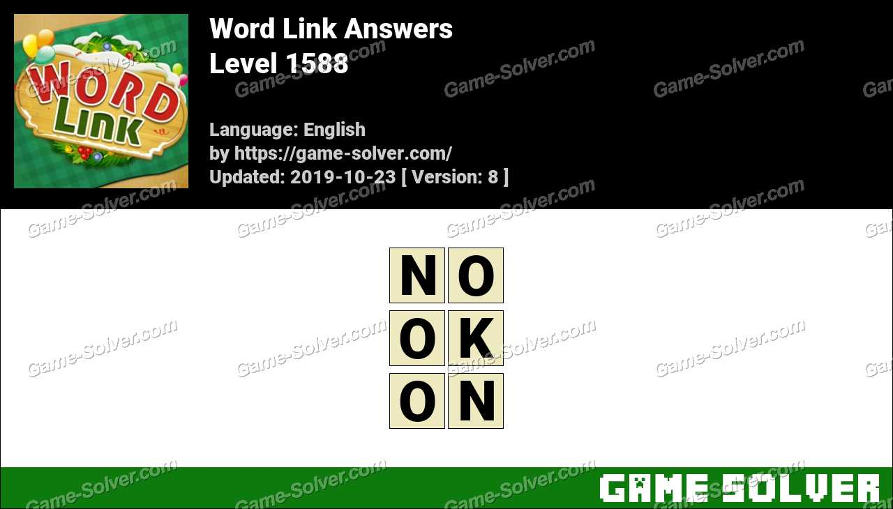 Word Link Level 1588 Answers