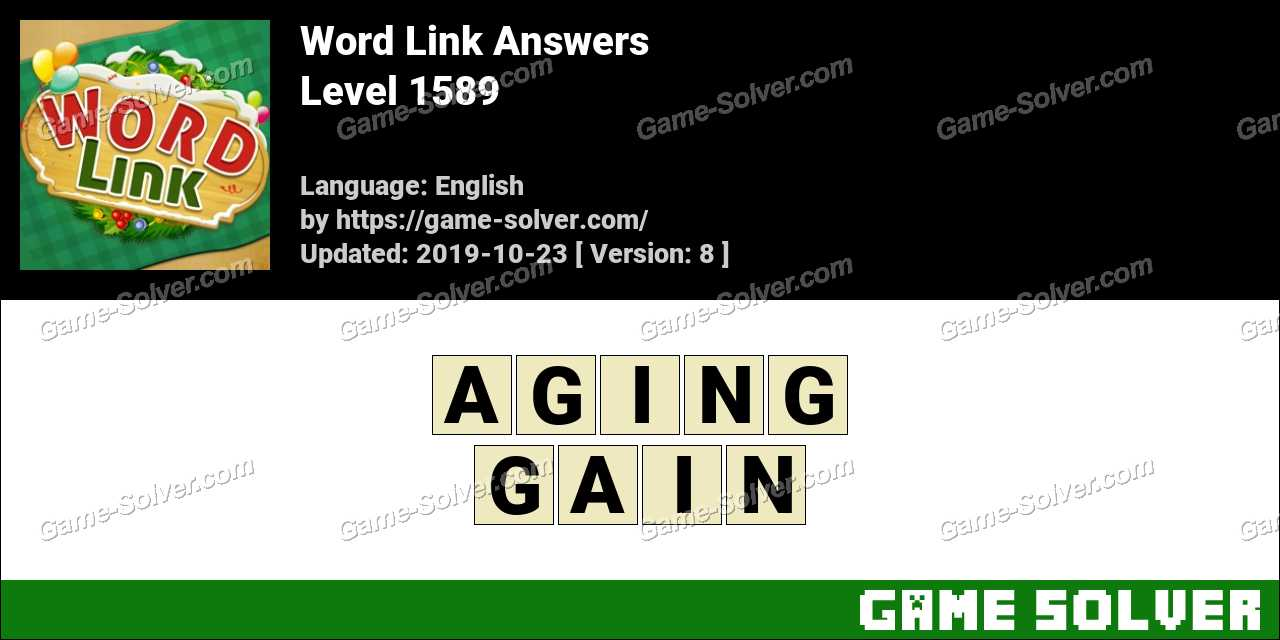 Word Link Level 1589 Answers