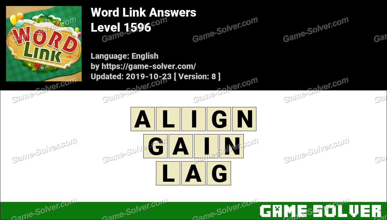 Word Link Level 1596 Answers