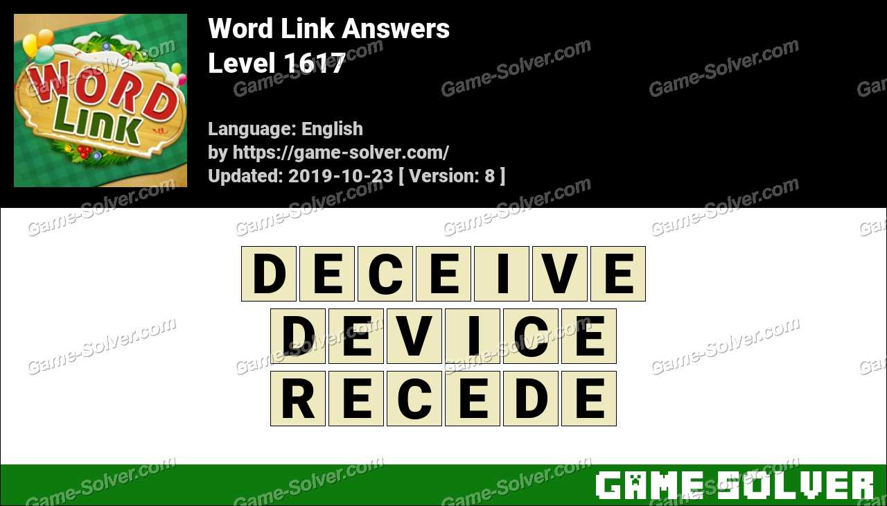 Word Link Level 1617 Answers