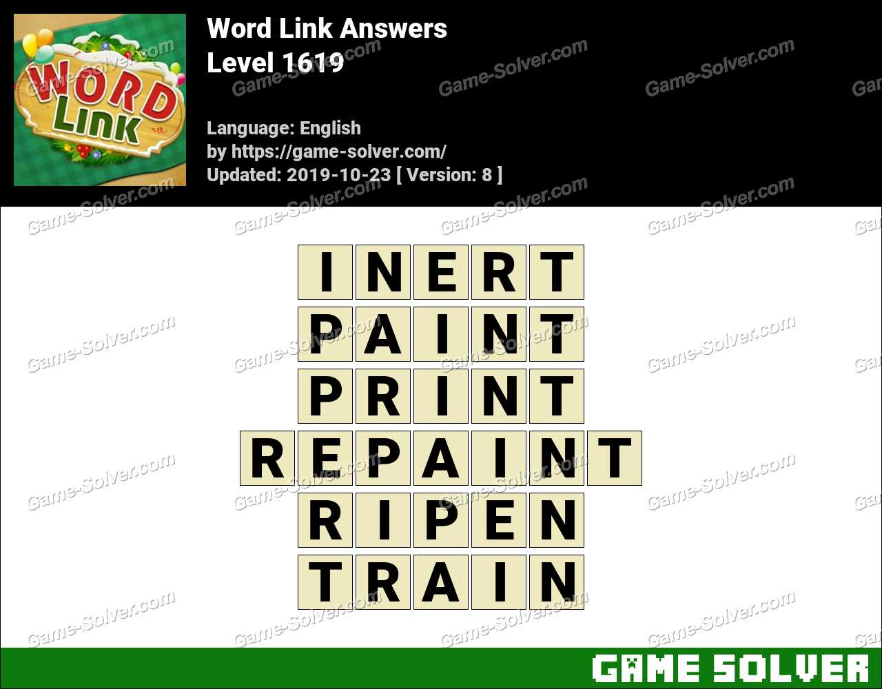 Word Link Level 1619 Answers