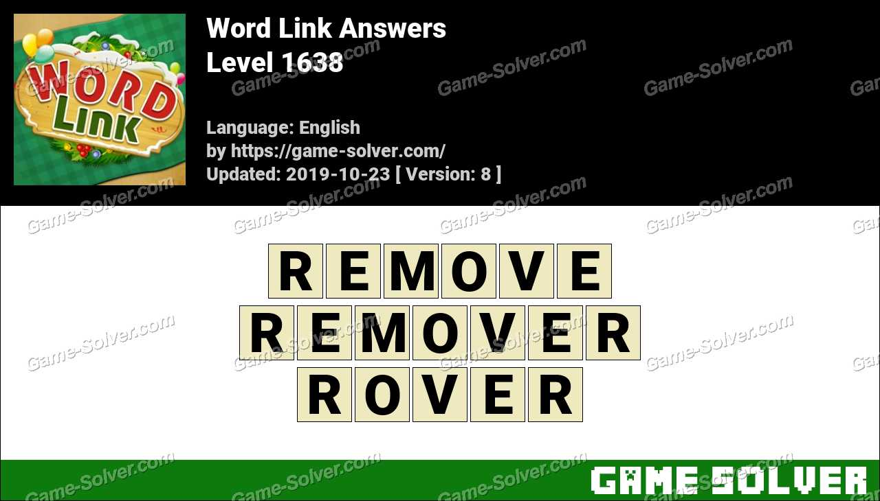 Word Link Level 1638 Answers