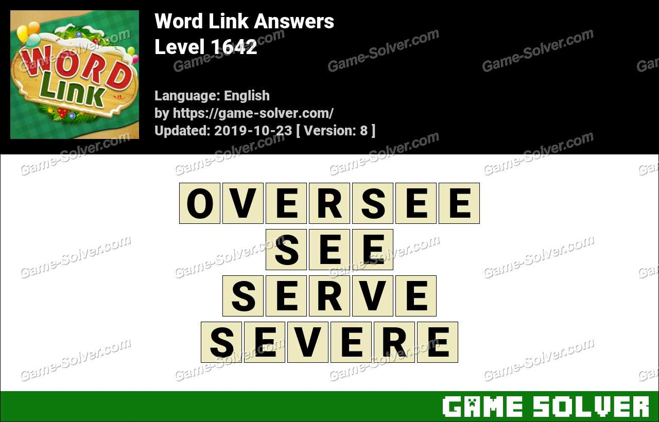 Word Link Level 1642 Answers