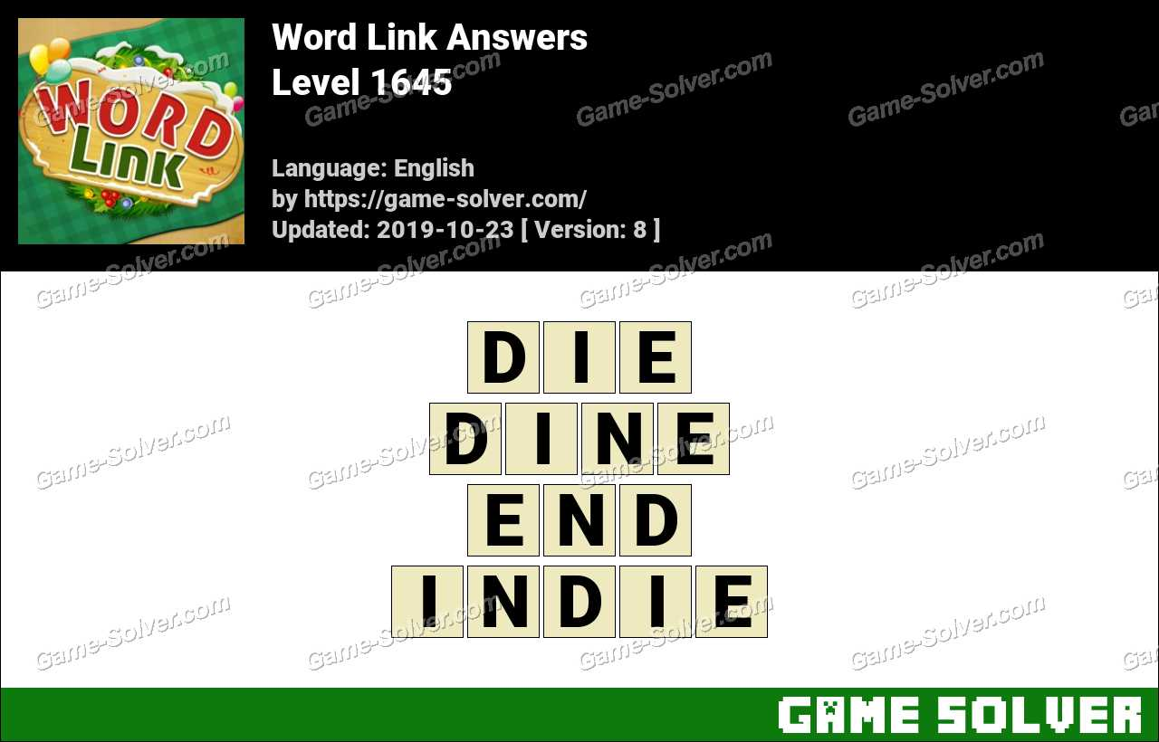 Word Link Level 1645 Answers