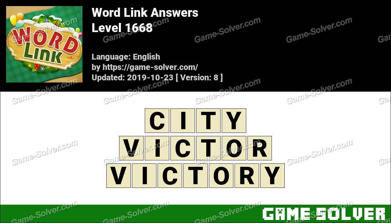 Word Link Level 1668 Answers