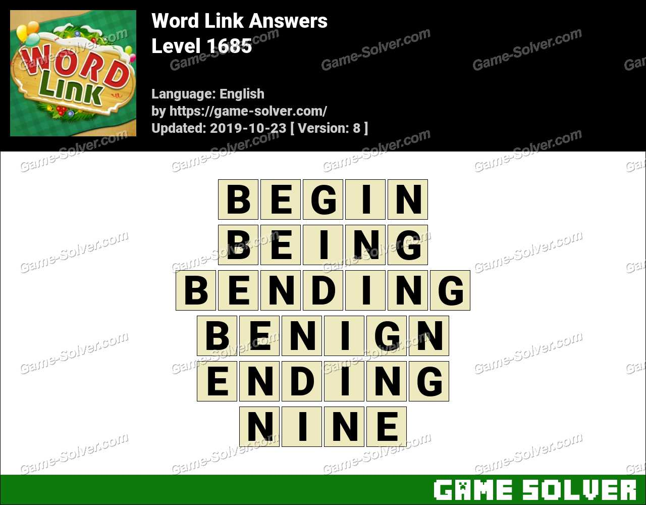 Word Link Level 1685 Answers