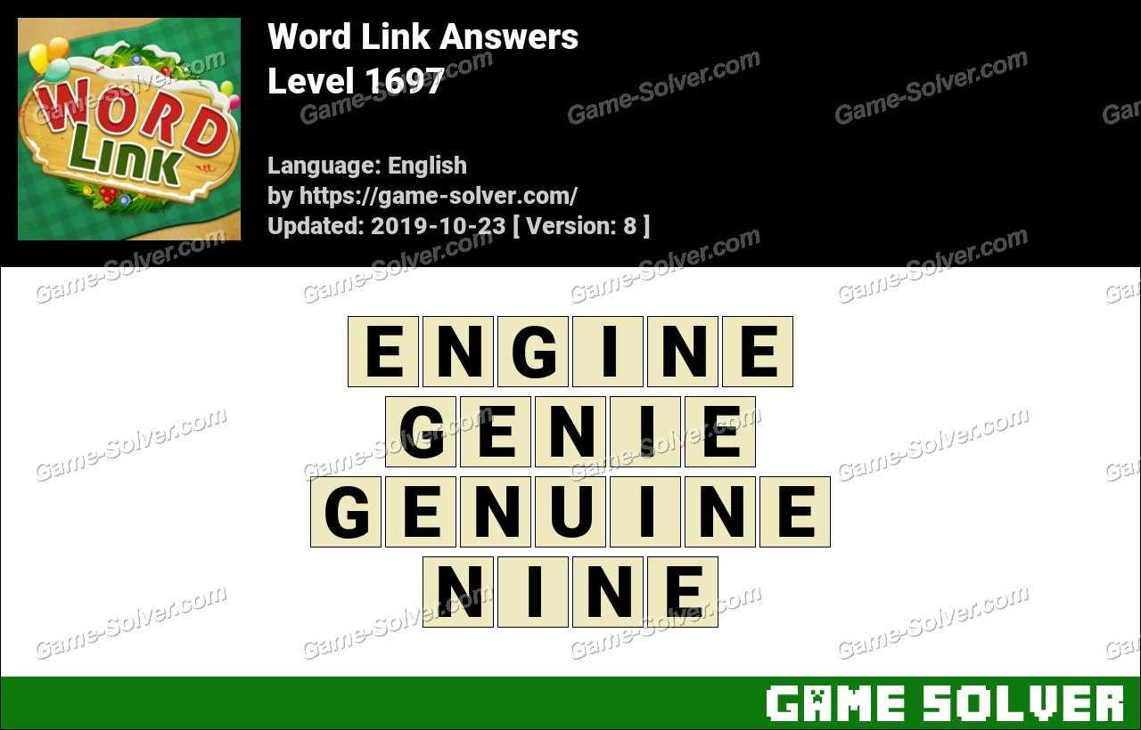 Word Link Level 1697 Answers
