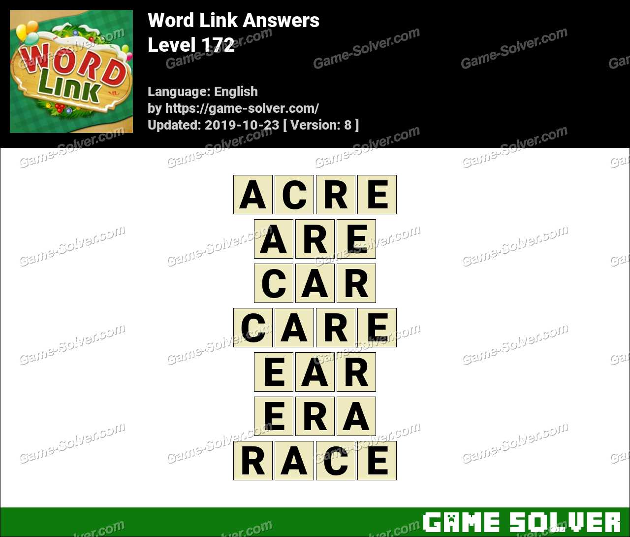 Word Link Level 172 Answers