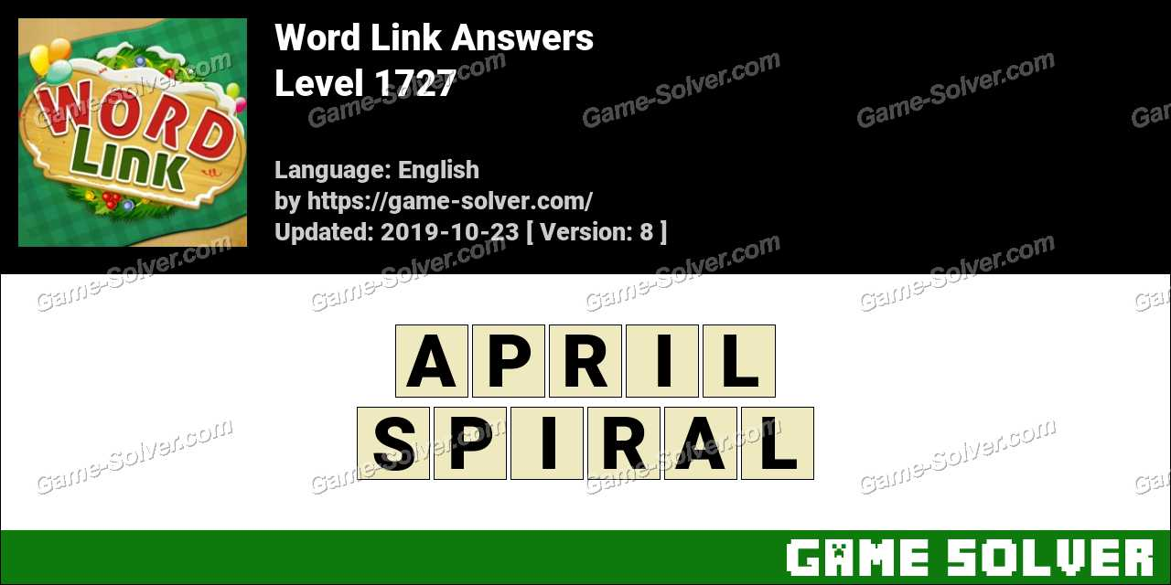 Word Link Level 1727 Answers