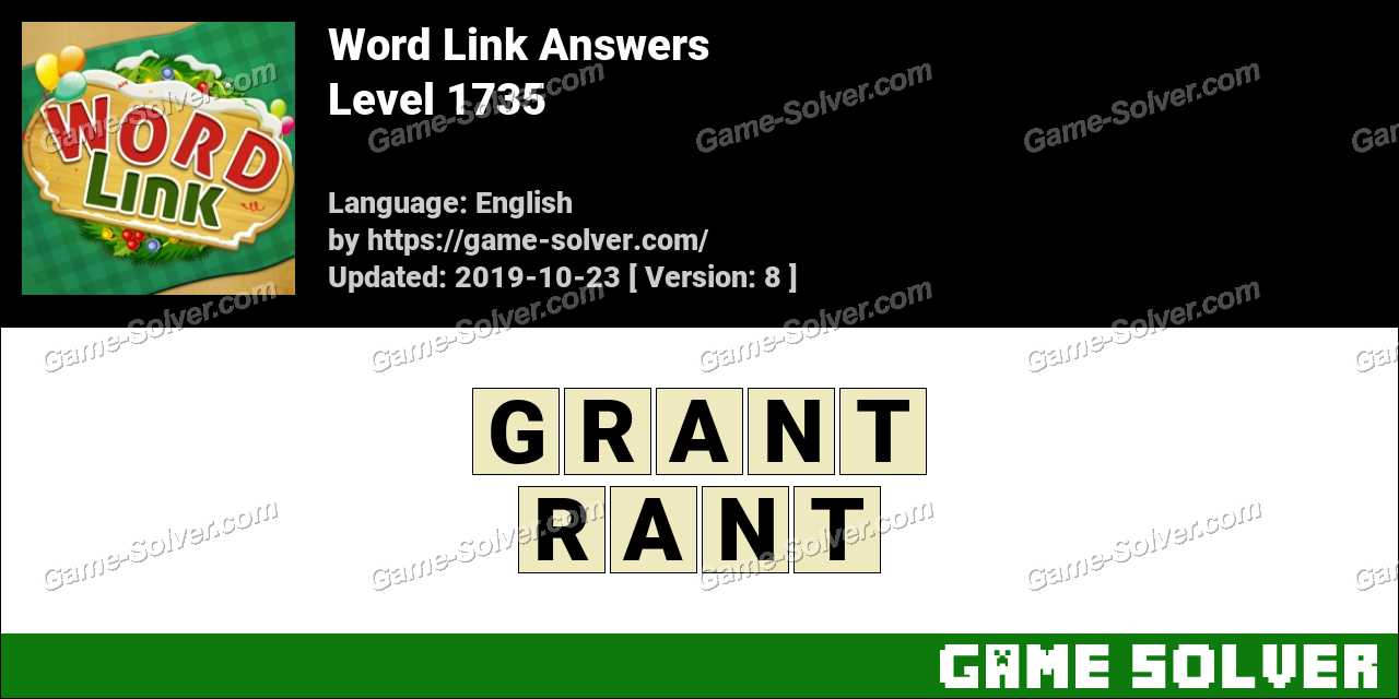 Word Link Level 1735 Answers