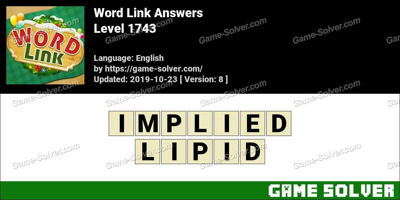 Word Link Level 1743 Answers