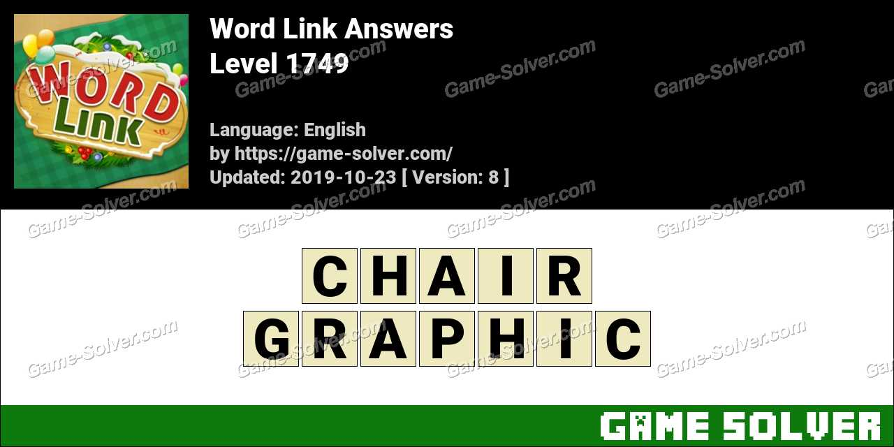 Word Link Level 1749 Answers