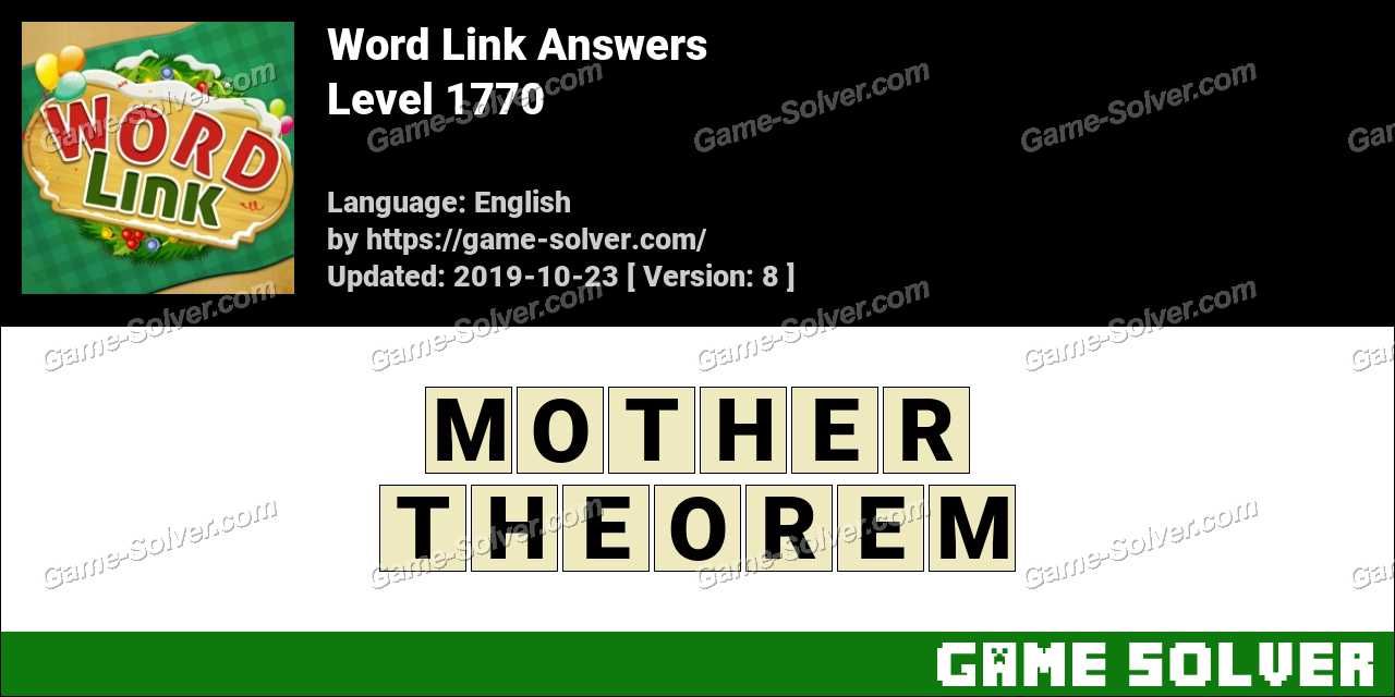 Word Link Level 1770 Answers