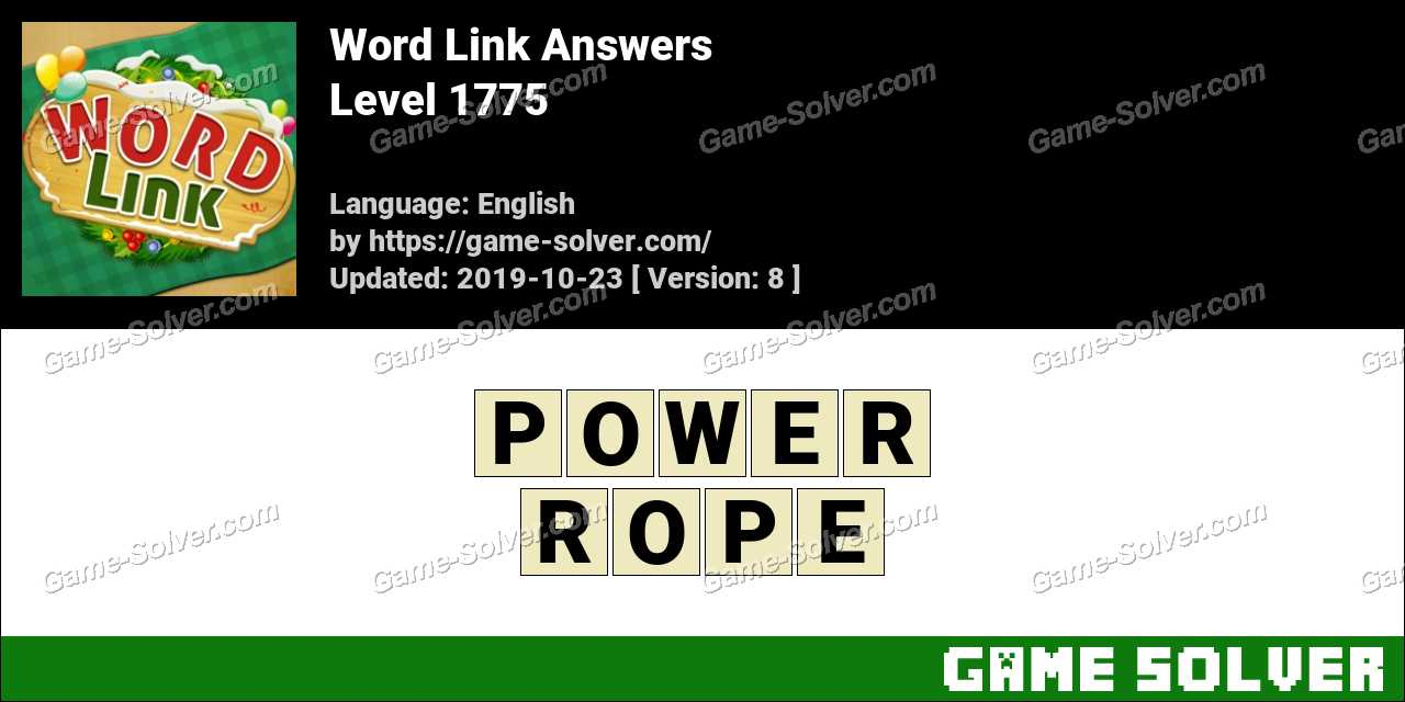 Word Link Level 1775 Answers