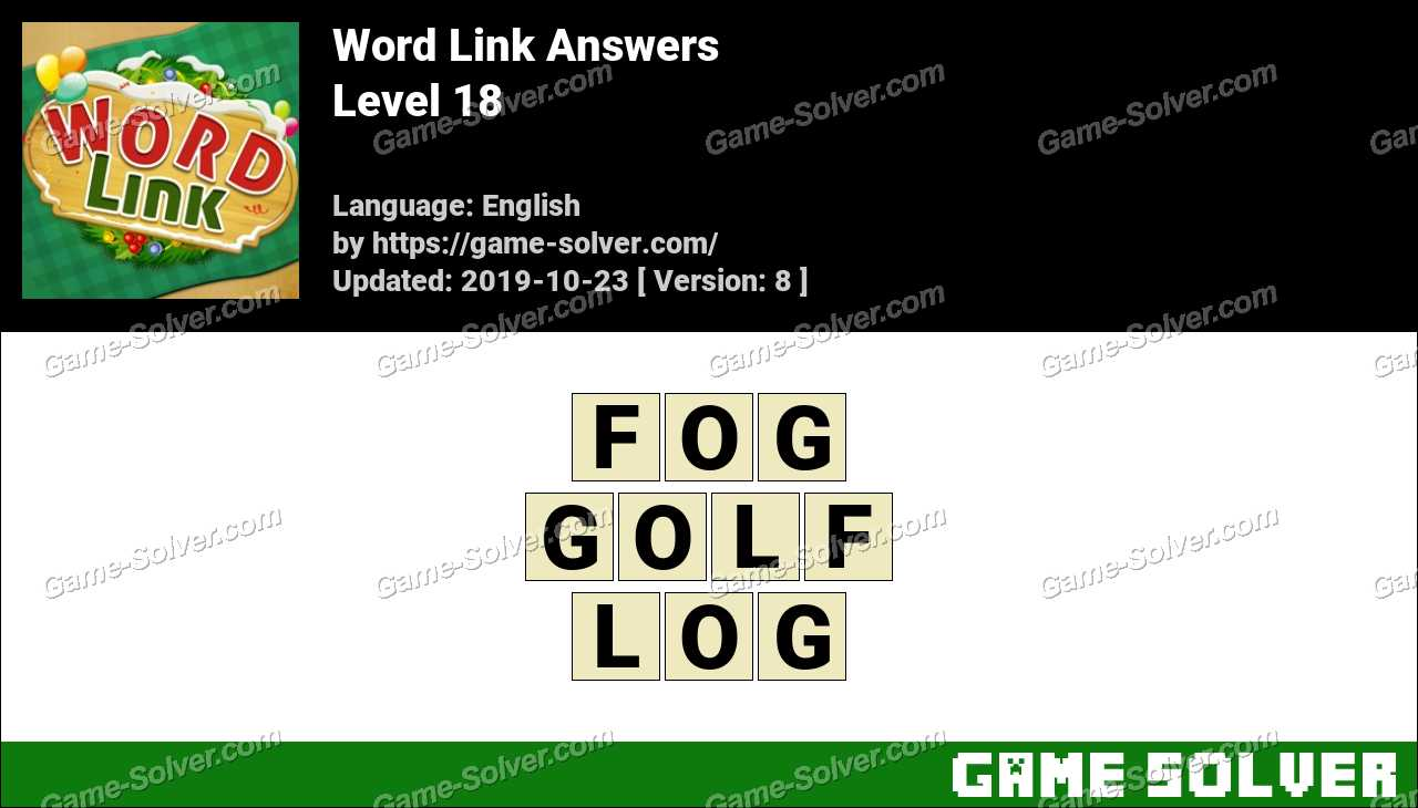 Word Link Level 18 Answers