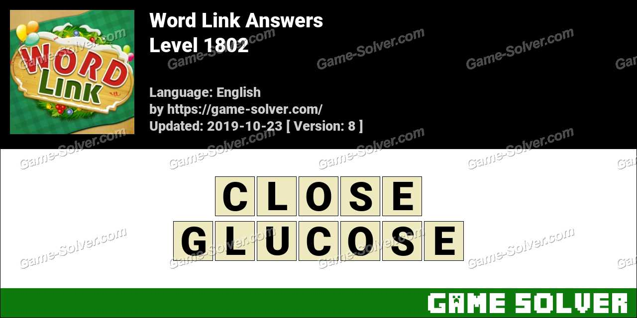 Word Link Level 1802 Answers