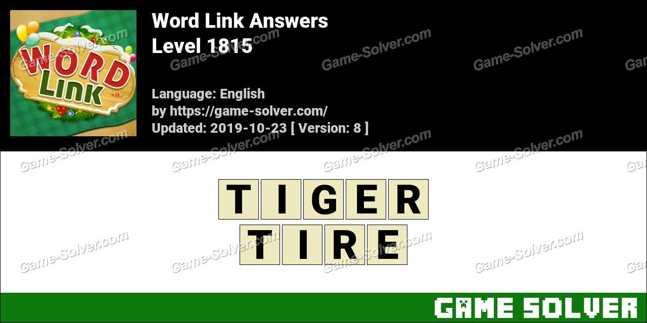 Word Link Level 1815 Answers