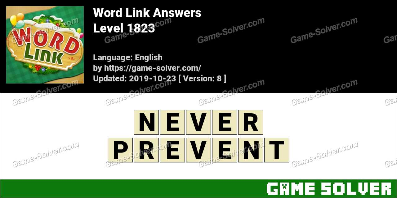 Word Link Level 1823 Answers
