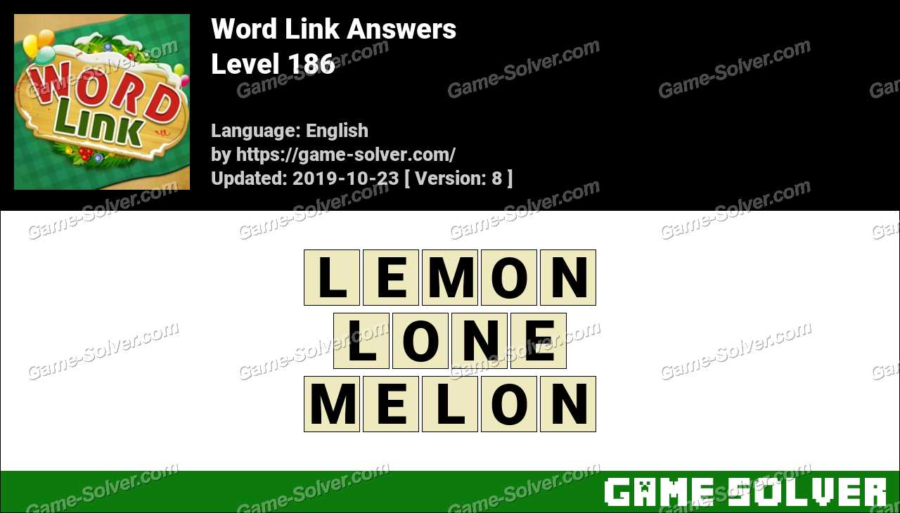 Word Link Level 186 Answers