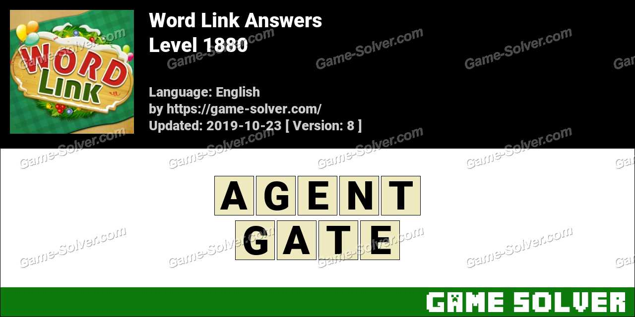 Word Link Level 1880 Answers