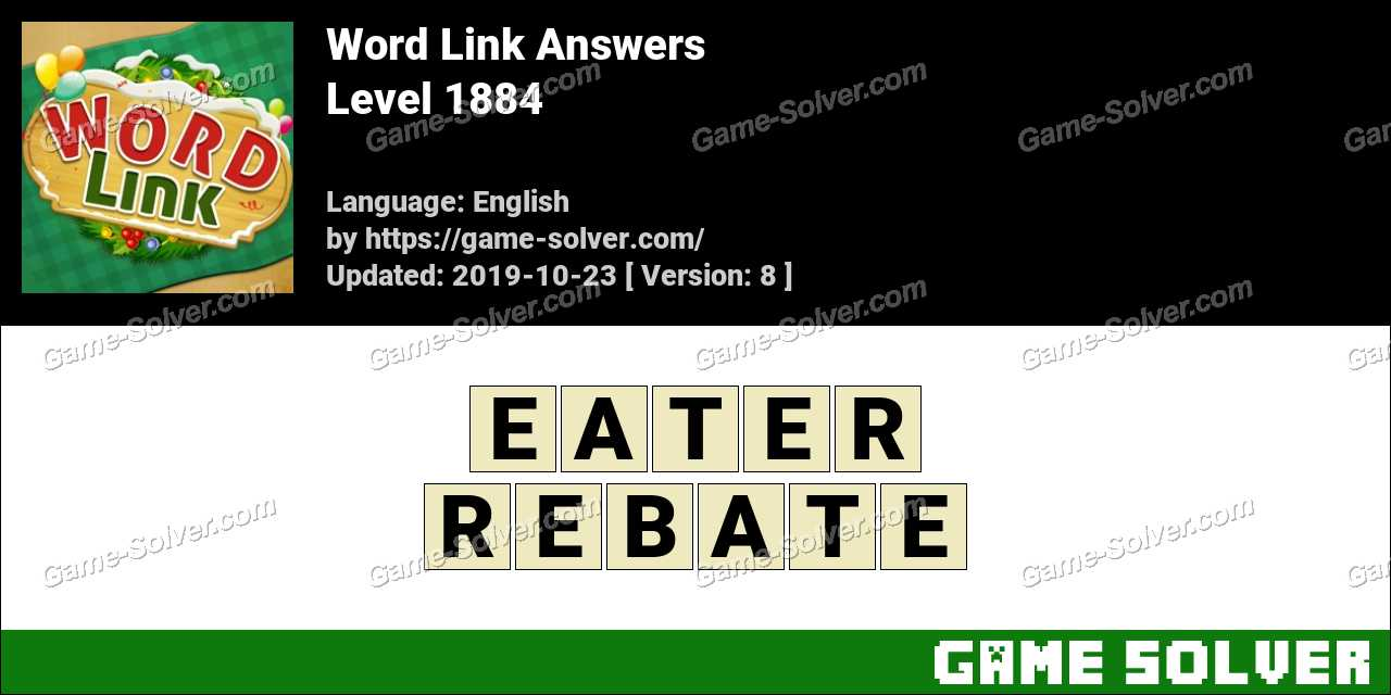 Word Link Level 1884 Answers