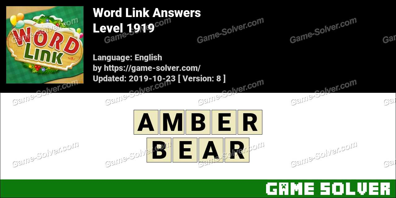Word Link Level 1919 Answers