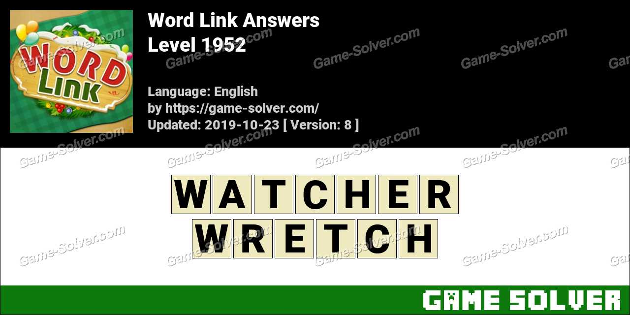 Word Link Level 1952 Answers